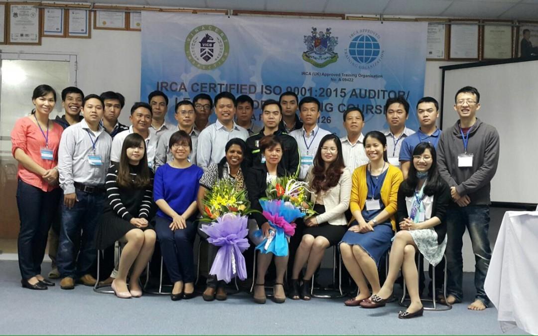 IRCA ISO 9001:2015 Auditor/Lead Auditor Training in Hanoi